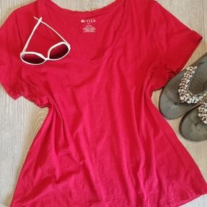 Red cotton comfy top